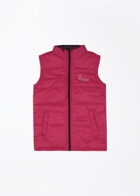 People Sleeveless Striped Girl's Jacket