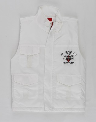 Noddy Sleeveless Solid Boys Jacket