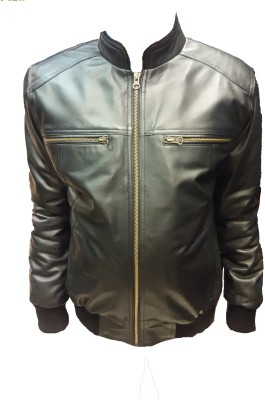 Leather Mall Full Sleeve Solid Men's Jacket