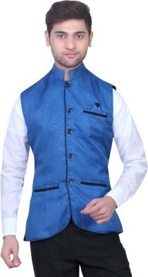Trustedsnap Sleeveless Solid Men's Jacket