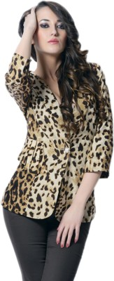 Trendy Divva 3/4 Sleeve Printed Women's Jacket