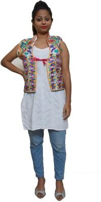Chahel Sleeveless Embroidered Women's Jacket