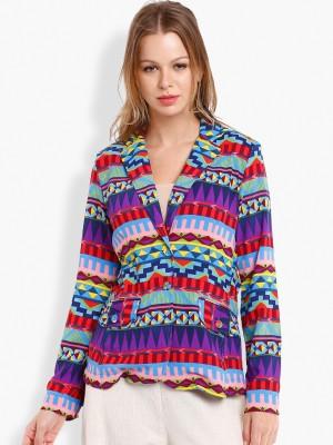 Folklore Full Sleeve Printed Women's Printed Jacket