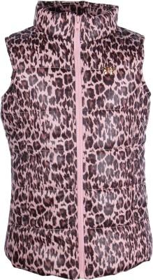 Cutecumber Sleeveless Animal Print Girl's Jacket