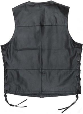 KAVACI Sleeveless Solid Mens Jacket