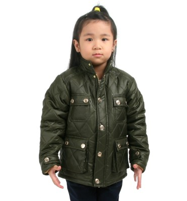 Cherry Crumble California Full Sleeve Solid Girls Jacket