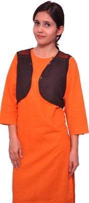 blisscreations Sleeveless Embellished Women's Linen Jacket
