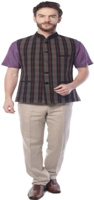 Mohanlal Sons Half Sleeve Solid Men's Jacket