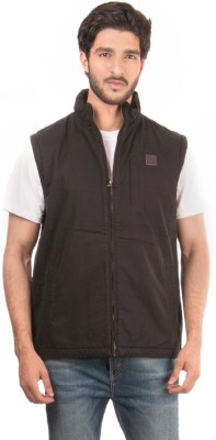 Again Sleeveless Solid Men's Jacket