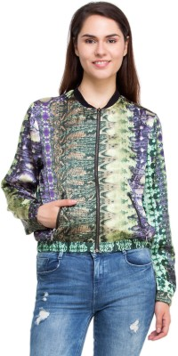 Oxolloxo Full Sleeve Printed Women,s Bomber Jacket