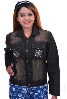 Rank Full Sleeve Self Design Women's Denim Jacket