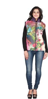 Jugniji Half Sleeve Animal Print Women's Jacket