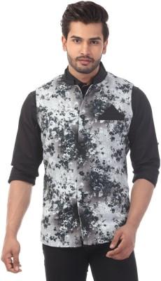 Radbone Sleeveless Self Design Men's Jacket