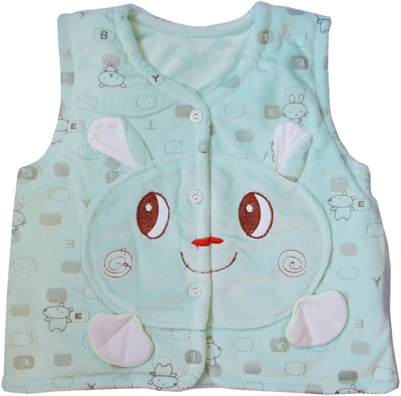 Upside Down Sleeveless Applique Baby Boys & Baby Girls Jacket