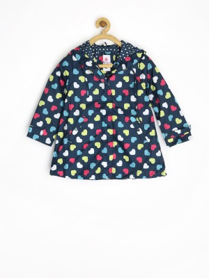 Sela Full Sleeve Printed Girl's Non-quilted Jacket