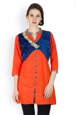 Famous by Payal Kapoor Sleeveless Self Design Women's Jacket