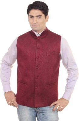 Sandhya Creation Sleeveless Solid Men's Single Breasted Jacket