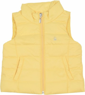 United Colors of Benetton Sleeveless Striped Girl's Quilted Jacket
