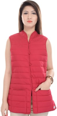 JaipurKurti Sleeveless Solid Women's Jacket