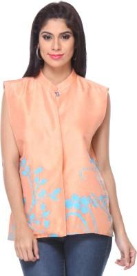 Lavennder Sleeveless Printed Women's Jacket