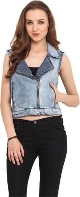 Nordic Bazaar Sleeveless Solid Women's Denim Jacket