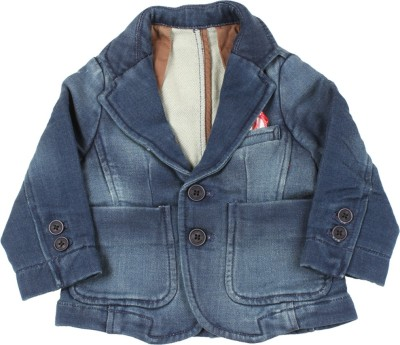 United Colors of Benetton Full Sleeve Solid Baby Boys Denim Jacket