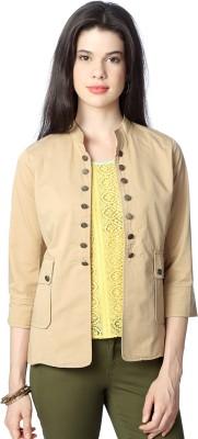 People 3/4 Sleeve Solid Womens Jacket
