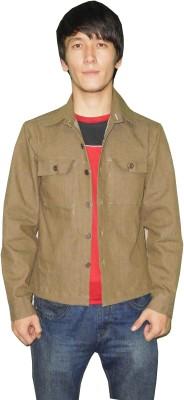 Pluto Full Sleeve Solid Men's Denim Jacket