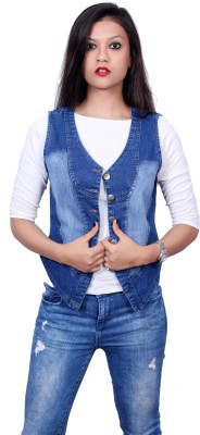 Style Souk Sleeveless Solid Women's Denim Jacket