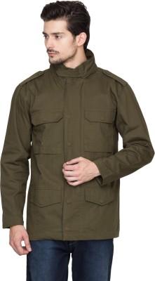 Hypernation Full Sleeve Solid Men's Cotton Jacket