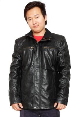 shradha leather garments Full Sleeve Solid Men's Jacket
