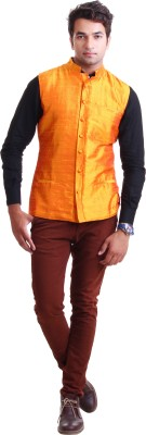 Peepal Sleeveless Solid Men's Jacket