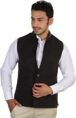 Platinum Studio Sleeveless Solid Men's Nehru Jacket