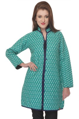 Lavennder Full Sleeve Solid, Printed Women's Quilted Jacket