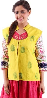 Bhakoshaa Sleeveless Solid Women,s Jacket Jacket