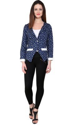 Pannkh Full Sleeve Printed Women's Tailored Jacket