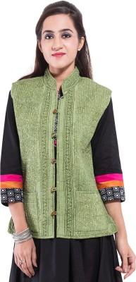 Albelishop Sleeveless Floral Print Women,s Jacket