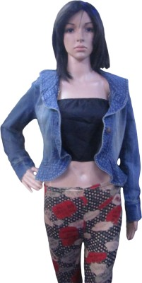 AARADHYA BOUTIQUE Full Sleeve Solid Women's Denim Jacket