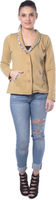 Lavennder Full Sleeve Solid Women's Jacket