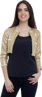 20Dresses 3/4 Sleeve Solid Women's Sequined Jacket