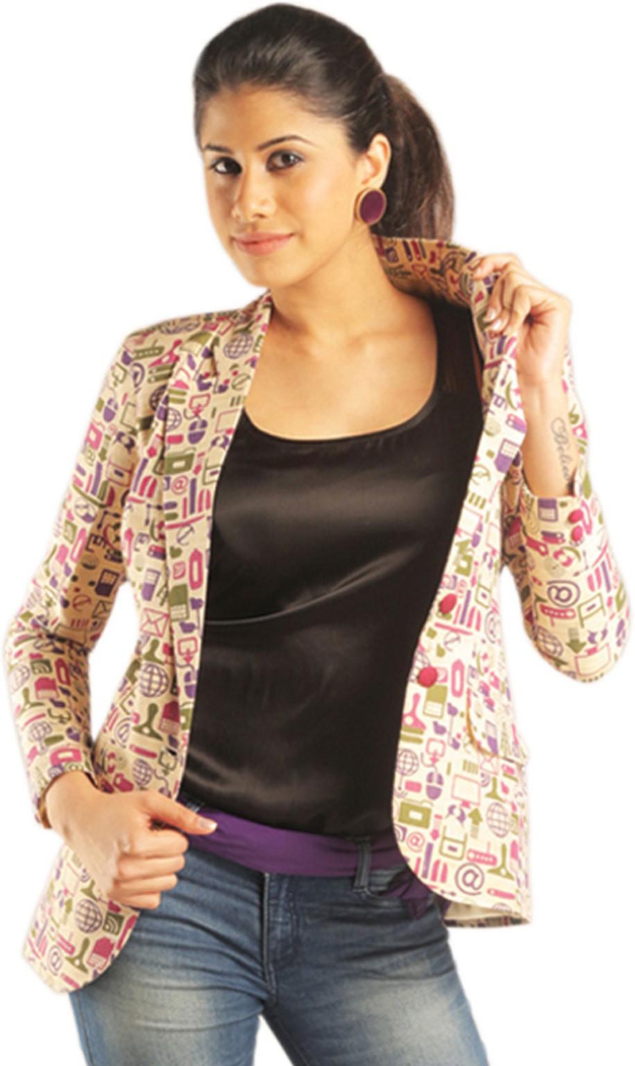 Idiot Theory Full Sleeve Printed Womens Regular Jacket
