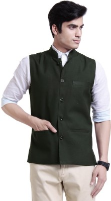 Vandnam Fabrics Sleeveless Solid Mens Jacket