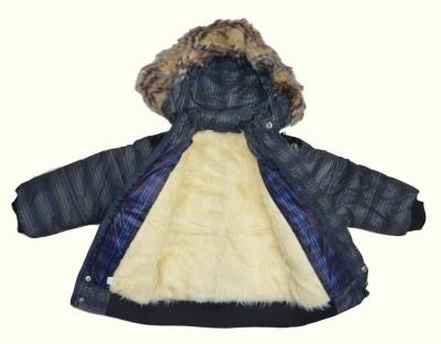 Smilee Full Sleeve Checkered Girl's Jacket