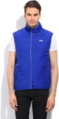 Fila Sleeveless Striped Men's Quilted Jacket
