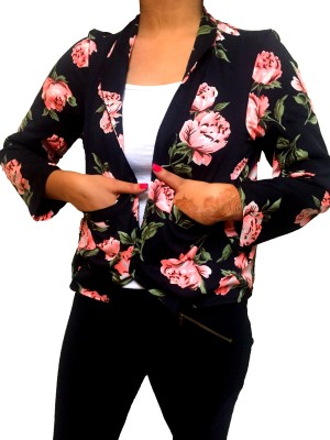 Big Pout Full Sleeve Floral Print Women's Jacket