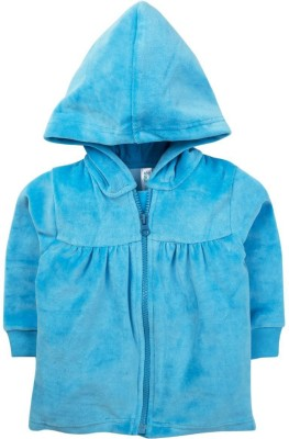 Snuggles Full Sleeve Solid Baby Girl's Jacket