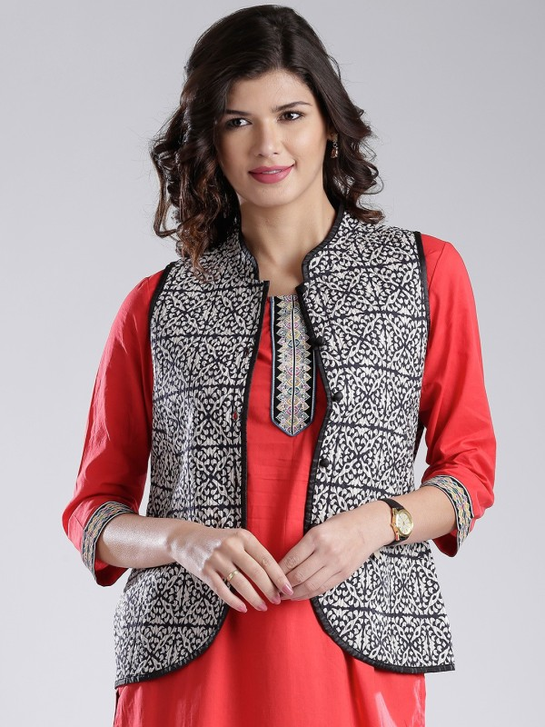 Anouk Sleeveless Printed Women's Jacket