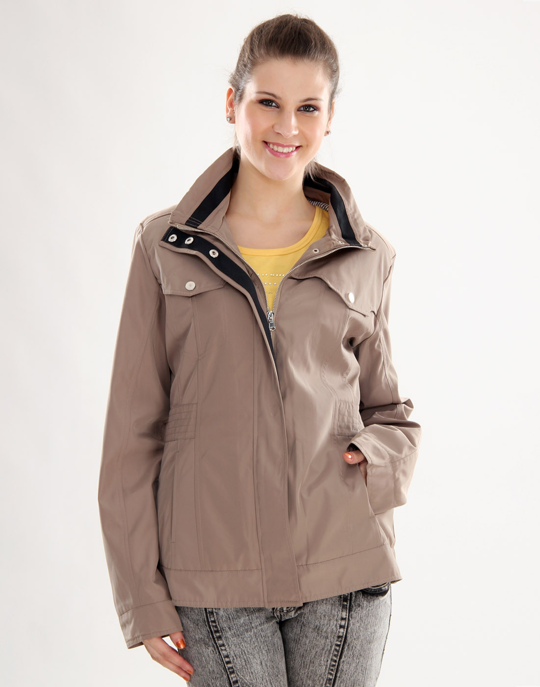 Sportelle USA India Full Sleeve Solid Womens Jacket