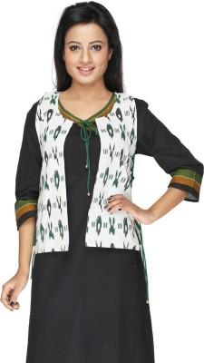 Ecostyle Sleeveless Printed Women,s Woven Jacket