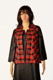 Kinari Sleeveless Checkered Women's Plai...